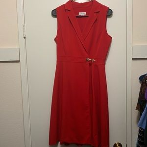 Calvin Klein sheath dress with clasp
